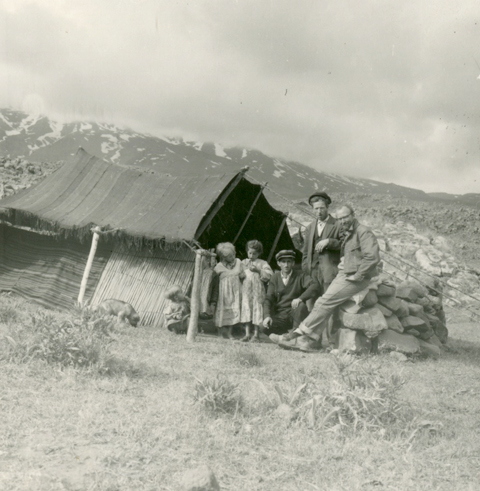 Patterson's hosts at the base of the mountain (From the Patterson Collection).