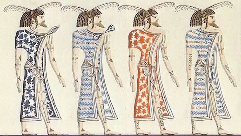Ancient Libyans depicted in Egyptian art. Image from  here .