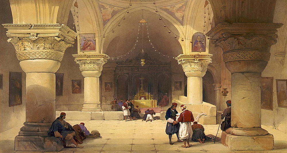 The Chapel of Helena, as painted by David Roberts (See  here ).