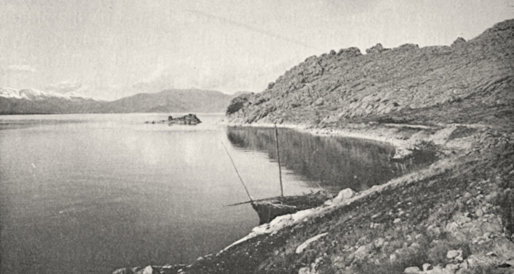Lake Van laps at the westernmost corner of Aghtamar island. Image by H. F. B. Lynch, a late 19th century explorer of the region (1901: Fig. 140).