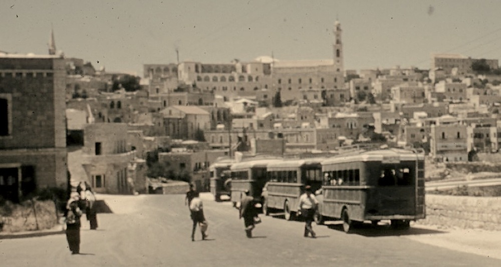 A view to the center of Bethlehem. Image taken many years ago as a slide transparency and donated to the Cincinnati Christian University.