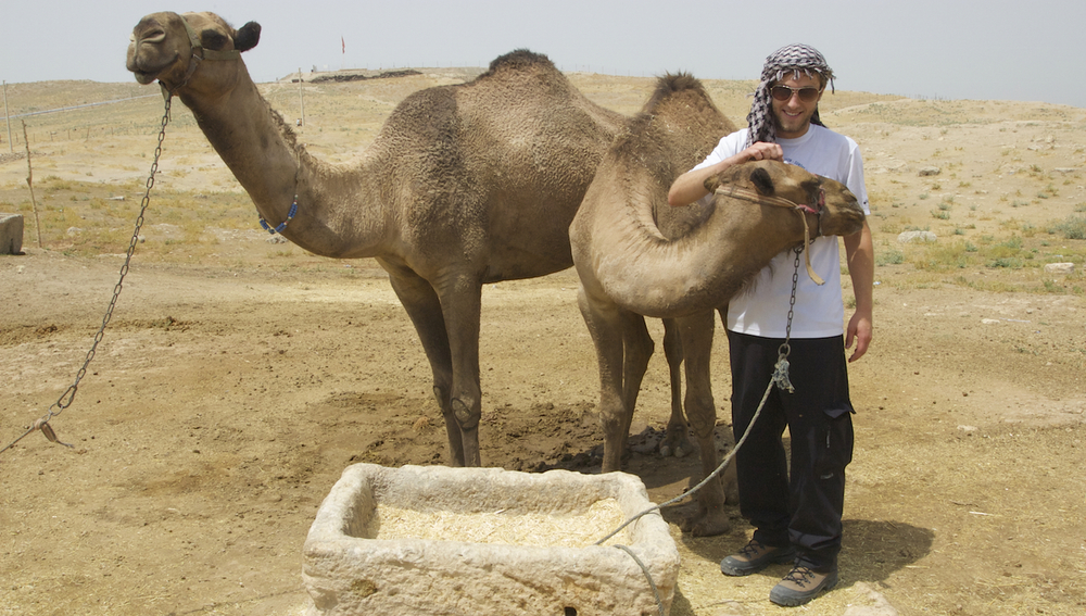 Tanner and the camels.