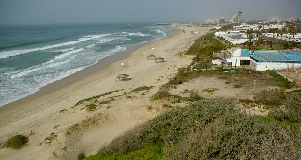 View to the beaches of Ashkelon.