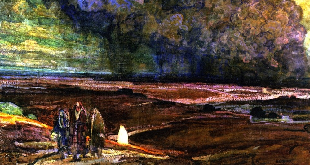 """Henry Ossawa Tanner, """"Sodom and Gomorrah"""" (1920). Detail from  here ."""