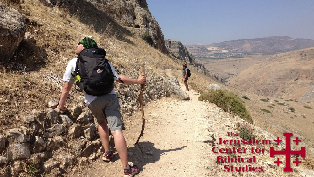 Hiking the Jesus Trail in 2014.