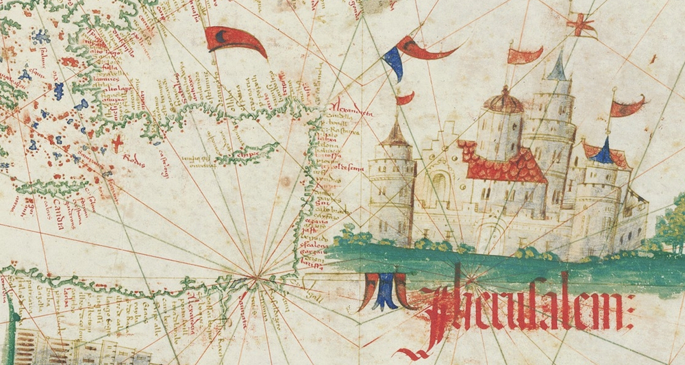 Jerusalem on the Cantino Planisphere. It is not drawn to scale.