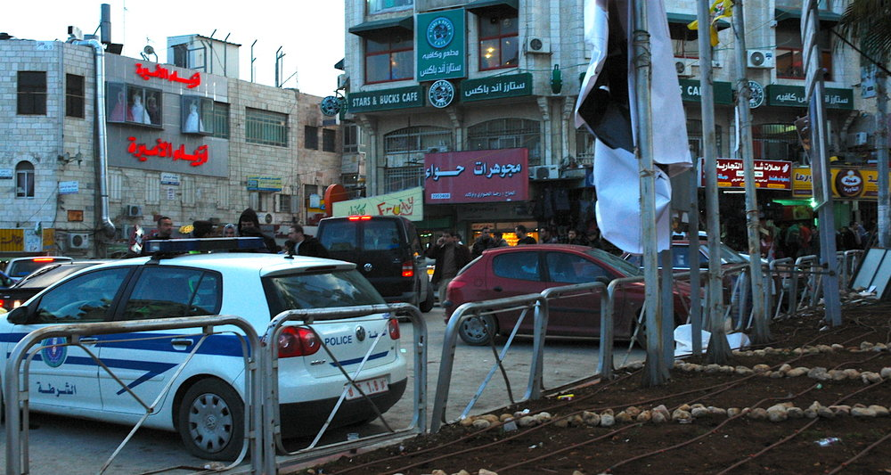 Manara Square, downtown Ramallah.