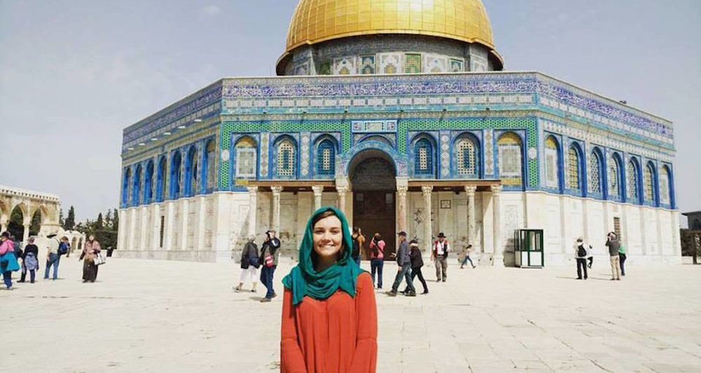 Hannah at the Dome of the Rock in Jerusalem.