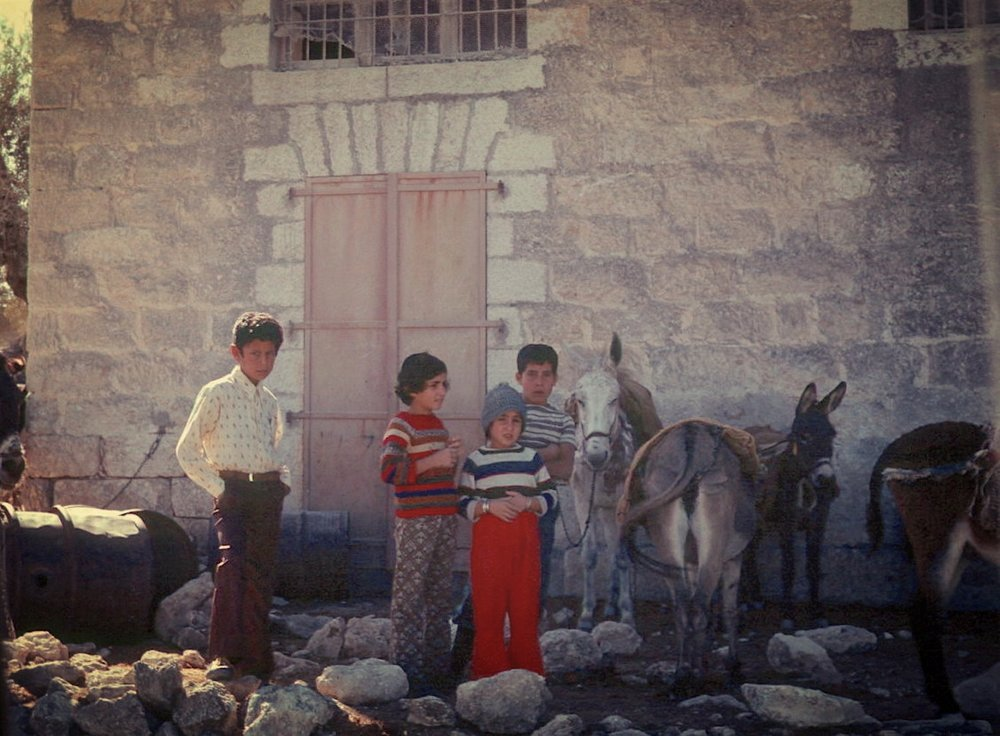 kids & donkeys. Palestine, 1977. Slide donation to CBC..jpg