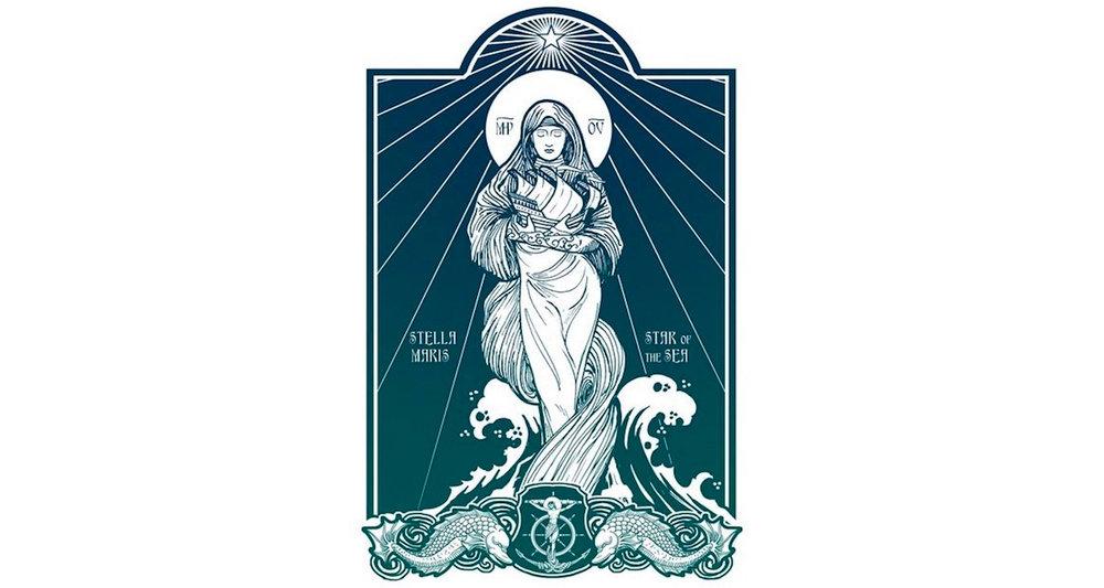 """""""Stella Maris"""" by Lawrence Klimecki. See image  here."""