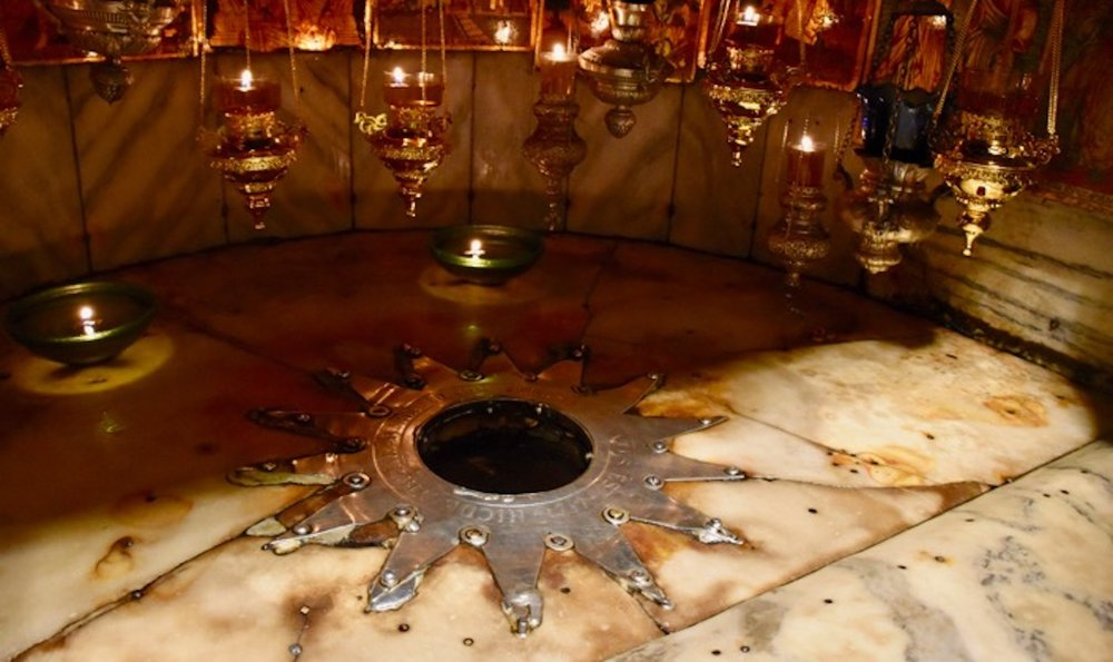The silver star marks the traditional site of Jesus' birthplace.