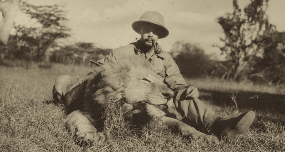From an African safari in the 1920s. Image from  here.