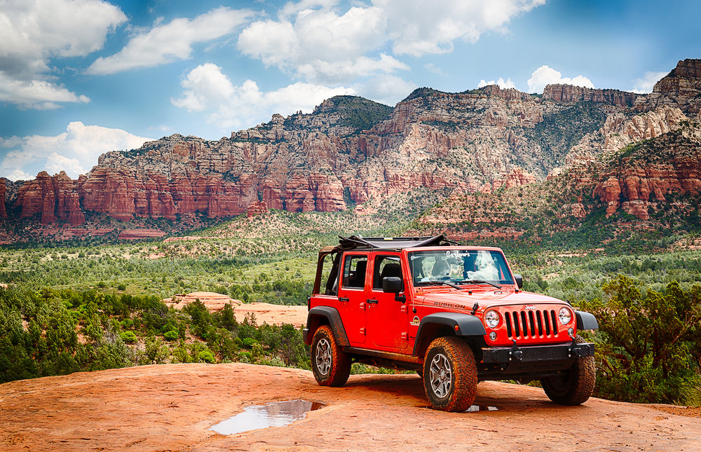Sedona Jeep on Coffee Pot rock