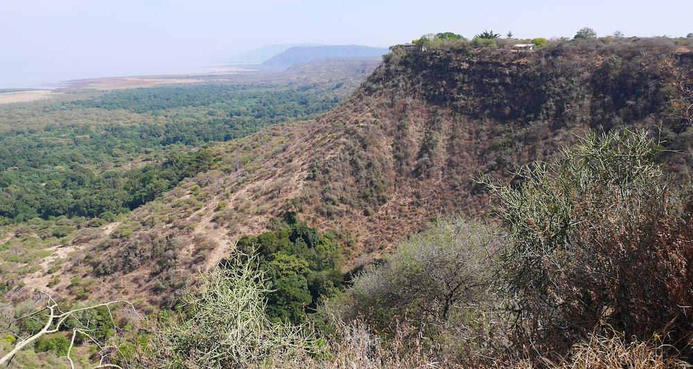 The Great Rift Escarpment above Lake Manyara, Tanzania.
