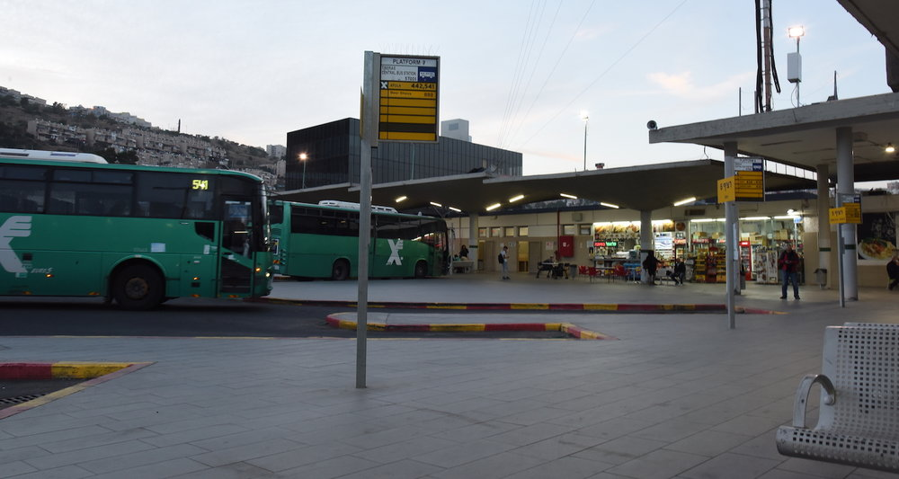 The bus station in Tiberias. Image from  here.