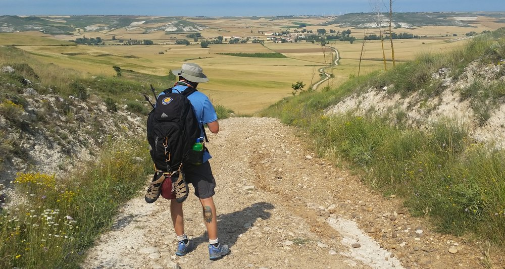 The Camino near Tardajos, Spain.