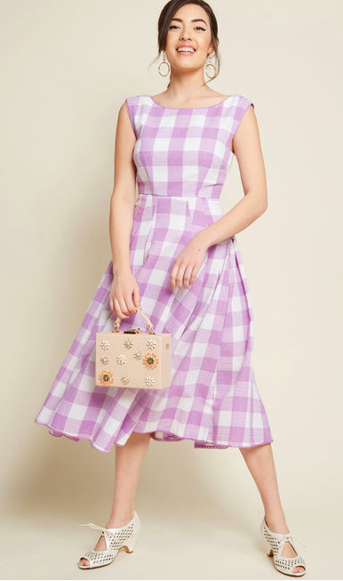 ModCloth The Surrounding Sweetness Sleeveless Midi Dress  $89.00