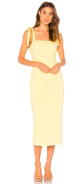 Revolve Capulet Camille Midi Dress in Pollen   $174.00