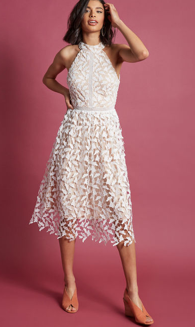 ModCloth Defining Divine Midi Dress in White  $150.00