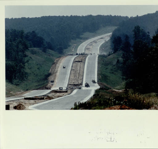 Work on 316 expansion east of lawrenceville in may 1991