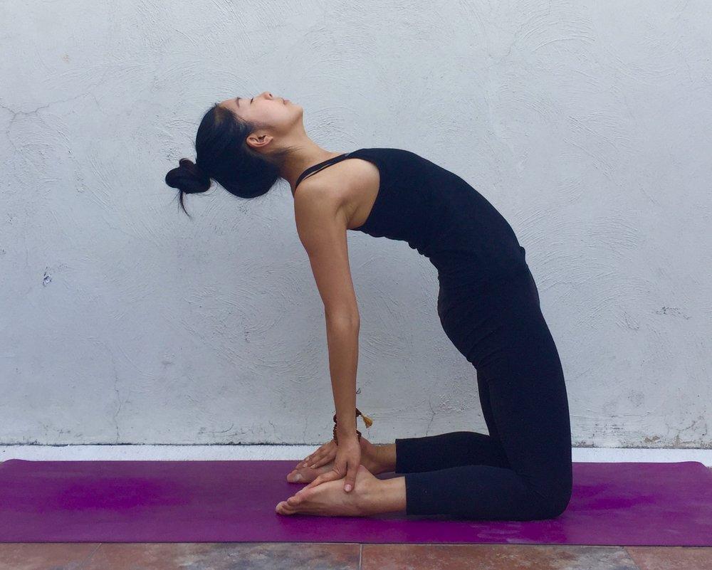 Camel Pose - Annie Au Yin Yoga