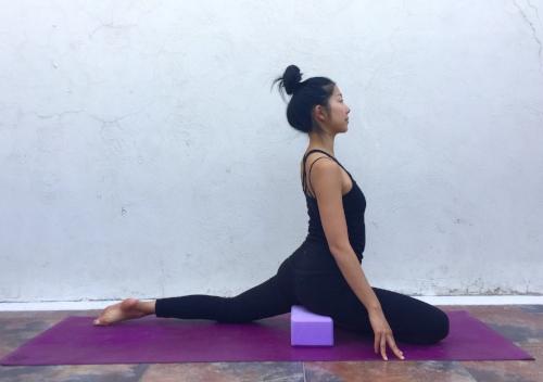 Swan Pose- Annie Au Yin Yoga