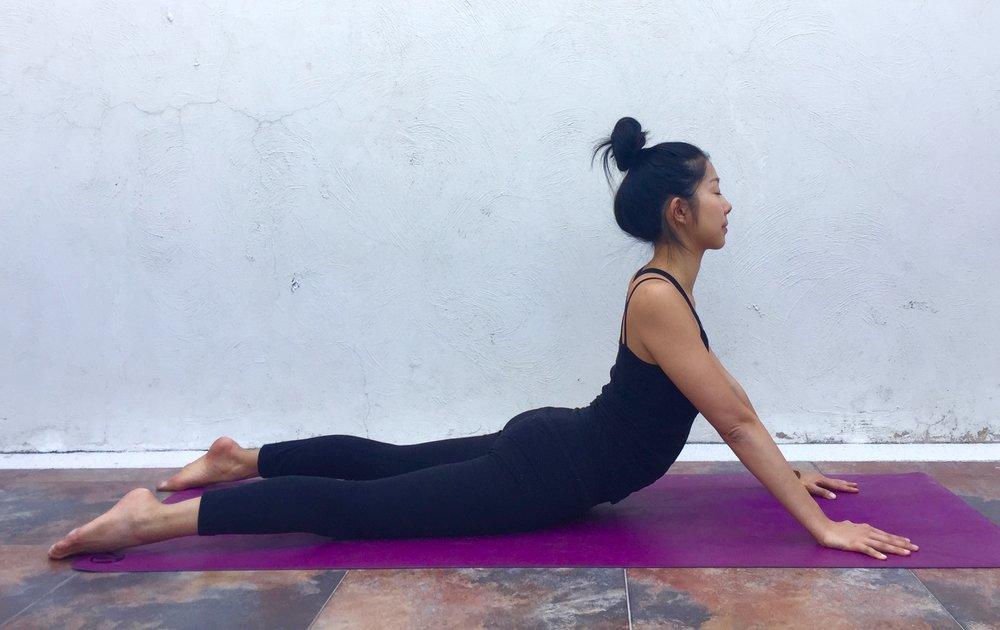Seal Pose Annie Au Yoga