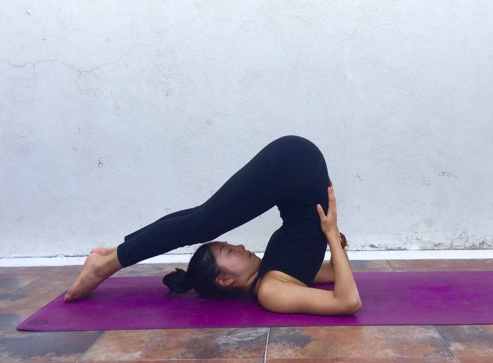 Snail Pose Annie Au Yoga