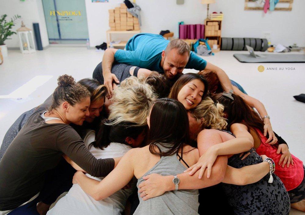 Yin yoga teacher training France 2019 Annie Au