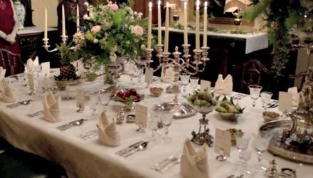 Downton table settings