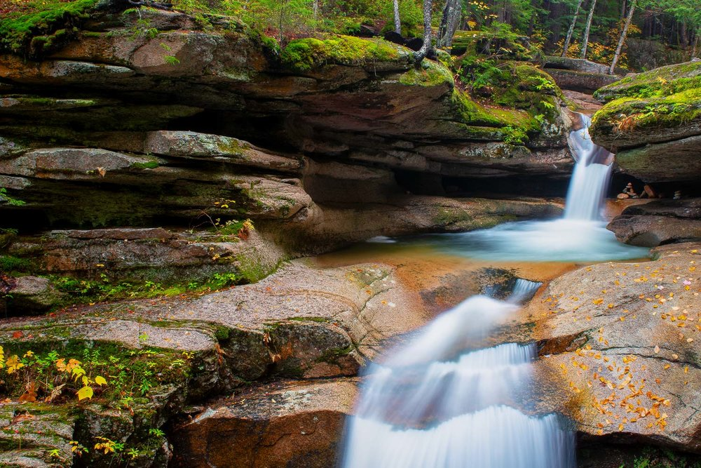 Sabbaday Falls in Waterville Valley, NH