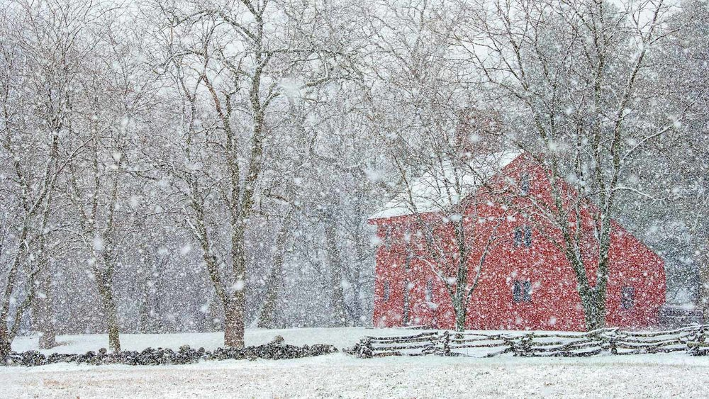 Second Place Pictorial:  The Rebecca Nurse Homestead in Danvers is seen through a blanket of snow during a spring snowstorm on Friday, April, 6, 2018. [Wicked Local Staff Photo / David Sokol]