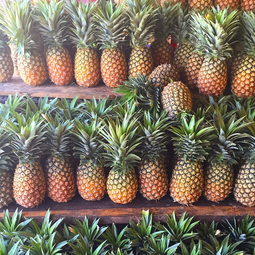 PIneapples at a local market in downtown Tulum, photo credit Carolyn Stine