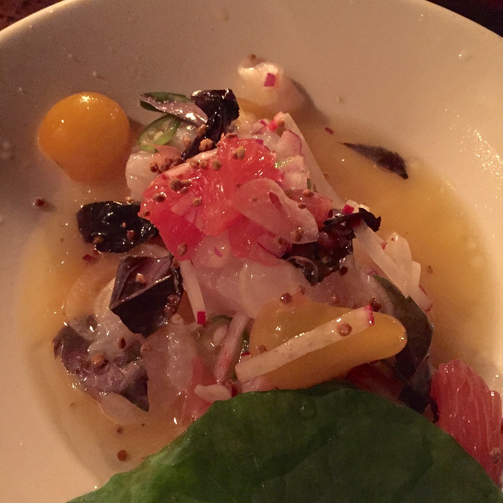 Ceviche at Hartwood, photo credit Carolyn Stine