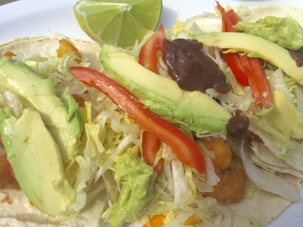 Fish tacos at El Camello Jr., photo credit Carolyn Stine