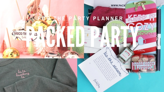 The Original Packed Party Disco Drink Tumbler $18, Fa La Freaking La Holiday Sweatshirt $52, 'Tis The Season Signature Package $42 Packed Party packages are centered around a life occurrence or theme and includes four to five full-sized hand-picked items based around that theme (think something like an Arch-ery Nemesis bow and arrow in our You Don't Need 'Em Anyway, or a confetti push pop in their Birthday Beb!). Not only do packages have fun and unique items, but they also include a letterpress card stating what the party is, why it's being sent, and we sign it with your name to make the package the perfect personalized gift! Pictured are three of our favorite packages for the holidays, a disco drink tumbler, a sassy sweatshirt and their signature package.
