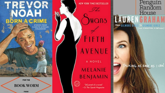 Born A Crime $28, The Swans of Fifth Avenue $16, Talking As Fast As I Can $28 The holidays are for family and fireplaces. Sitting by the fireplace wouldn't be the same without a glass (or bottle) of wine and your holiday read. Plus after binging Gilmore Girls over Thanksgiving, we can't wait to spend more time with Lorelai ahem Lauren Graham.