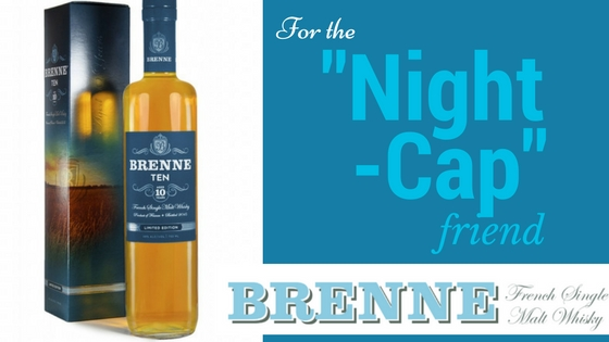 (Left to Right) Brenne Ten, Available at: Mash and Grape, $93.99 , Brenne, Available at: Caskers $57.99 Brenne Whisky is crafted from seed to spirit in the heart of Cognac, France in very limited batches, developed by former ballerina Allison Patel. Allison's first expression, Estate Cask, has no age statement as every barrel is bottled in single barrel releases and the aging time on each cask may vary slightly. Cheers to that!