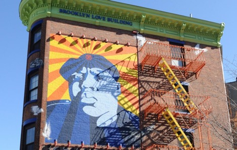 Biggie Mural is Fort Greene Brooklyn.                                                   Photo via        http://www.nydailynews.com/