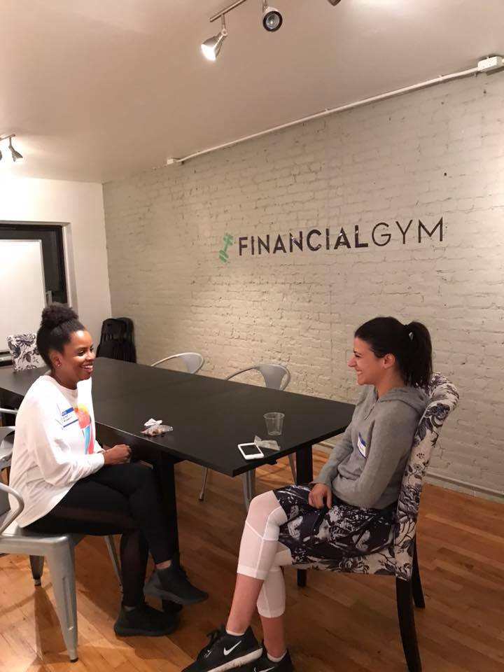 Getting our match on at The Financial Gym.