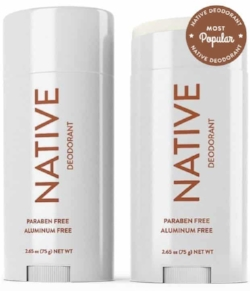 Native Deodorant Love not smelling but don't want to inject toxins into your pits? Try Native! With Scents like Coconut & Vanilla you'll be smelling fresh all day.