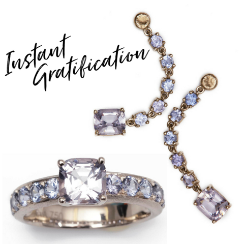(Picture above: ice-blue and lilac Spinels that could make for a sparkling engagement ring)