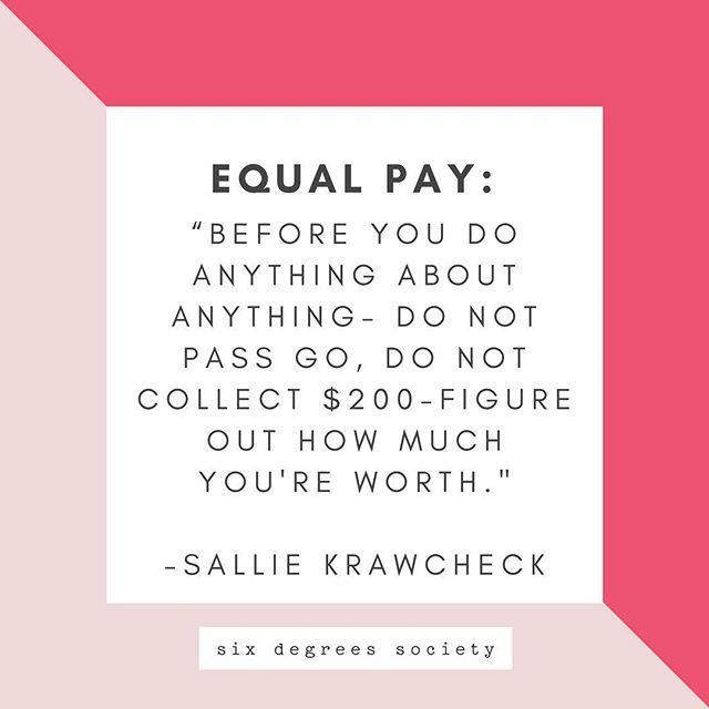 What is your worth and how do figure it out? Why as women do we struggle with holding out for more 💰? For walking away from an offer that doesn't sound perfect? For waiting our turn? For not feeling qualified enough. At what point is that going to change? 🤷🏻‍♀️