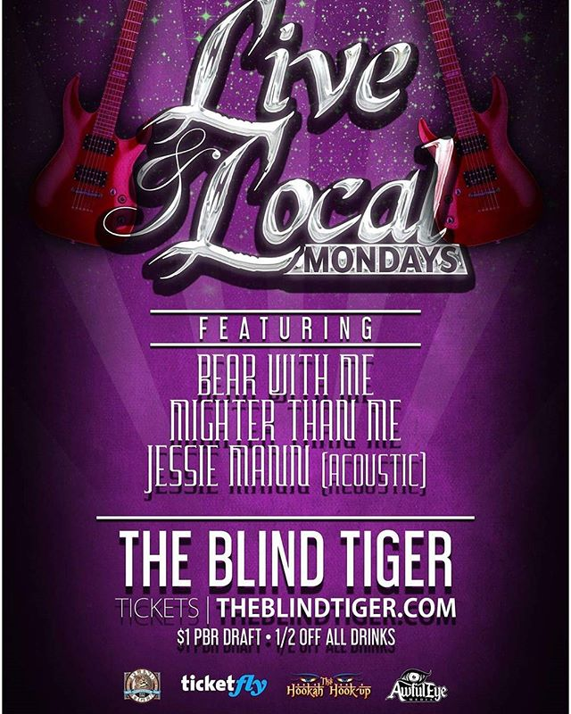 Monday nights may never be the same again. Come check out our first live and local Monday July 10th at the Blind Tiger!!! Free if you are over 21  @blindtigergso