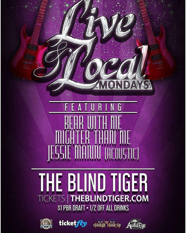Come party with us at the Blind Tiger tomorrow night! 9 o'clock free if you are over 21!