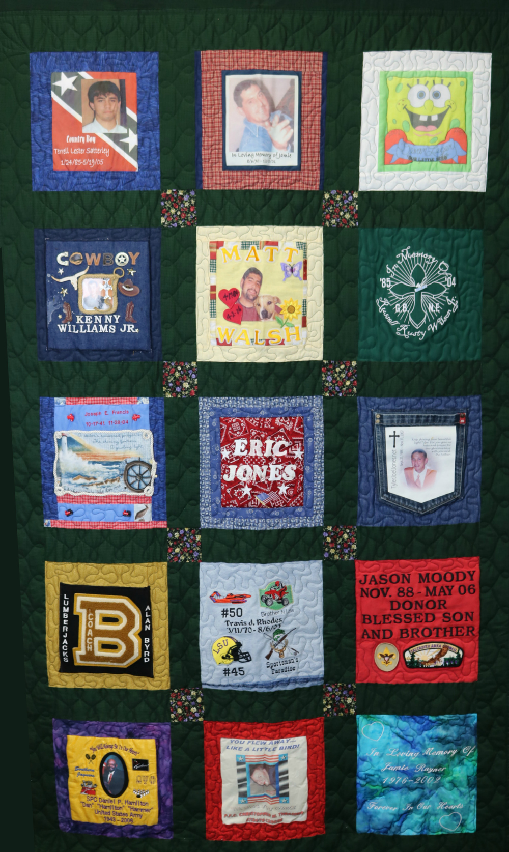 Donor memorial quilt 9