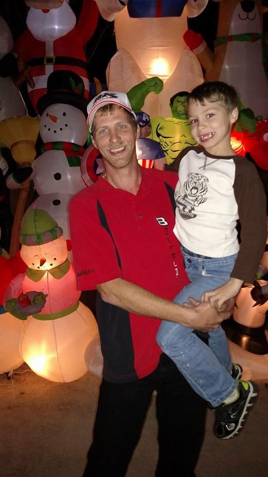 James Melton Sr. with his son James Jr.
