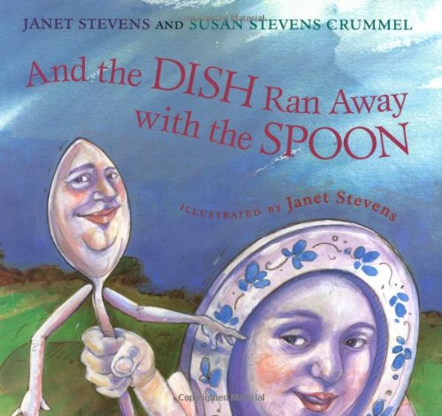 BY JANET STEVENS AND SUSAN STEVENS CRUMMEL Buy Now! Every night the rhyme gets read. Every night Dish and Spoon run away. And every night they return--until tonight! Where can Dish and Spoon be? The rhyme can't go on without them, so Cat, Cow, and Dog set out to search for their missing friends. But where to start?