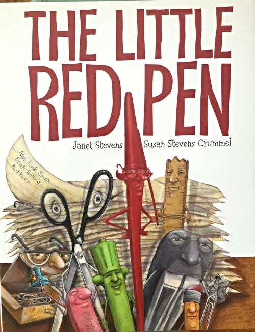 "BY JANET STEVENS AND SUSAN STEVENS CRUMMEL   Buy Now!   The Little Red Pen must grade the papers or it's the END OF THE WORLD! She is stressed out and asks for help, but all her school supply friends can say is, ""Not I!"" The Little Red Pen goes it alone and finally tumbles with exhaustion into the Pit of No Return (the trash!).  Will the Little Red Pen be lost forever?  Will it be the end of the world?"