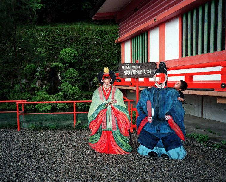 Japan. Photo cut-outs at the Great Shrine of Nachi - 16x12inches £600 - Edition of 6 + 2AP's - 20x24inches £1000 - Edition of 4 + 2AP's